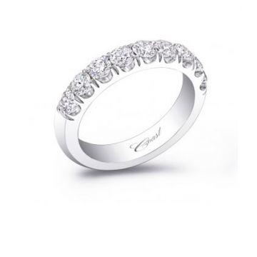 Coast Lady's White 14 Karat Wedding/Anniversary Ring