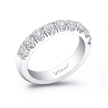 Coast Lady's White 14 Karat Fishtail Wedding/Anniversary Ring