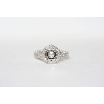 Lydia Three Row Pointed Halo Ring