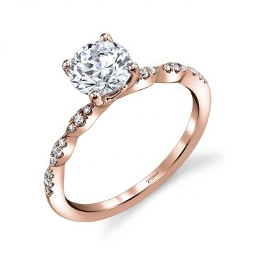Lady's Rosé 14 Karat Fancy Scalloped Ring