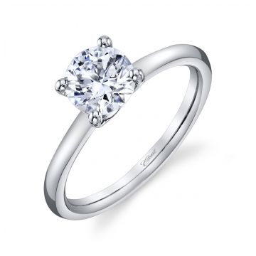 Lady's White 14 Karat 4 Prong Solitaire Ring