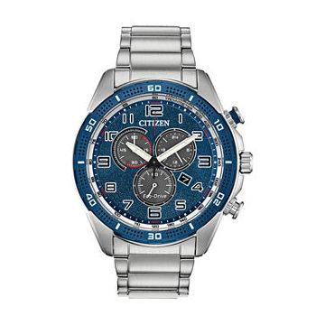 Stainlesssteel Mens Citizen Eco-Drive Chronograph AT2440-51L Watch