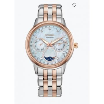 Citizen Rose Gold Stainlesssteel Ladies Watch With White Dial