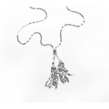 Southern Gates Lady's Sterling Silver Tassel Lariat Silver Necklaces