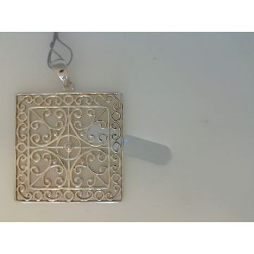 Southern Gates Sterling Silver Square Filagree Pendant