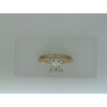 Lady's Yellow 14 Karat Solitaire Engagement Ring