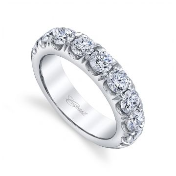 Coast Diamond Lady's White 14 Karat Fishtail Wedding/Anniversary Ring