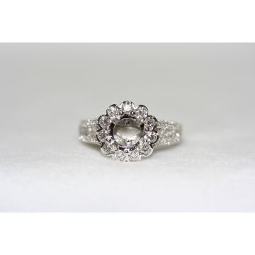 Lydia Fancy Gallery Halo Engagement Ring