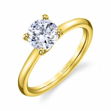 Coast Lady's Yellow 14 Karat 4 Prong Solitaire Ring