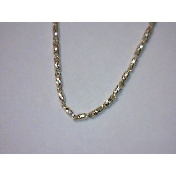 Yellow 14 Karat Diamond Cut Raso Chain Length 18