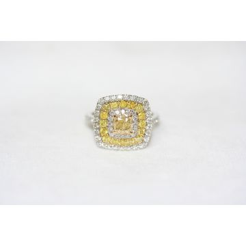 Estate Yellow Diamond Ring