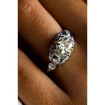 Estate European Cut Diamond Ring