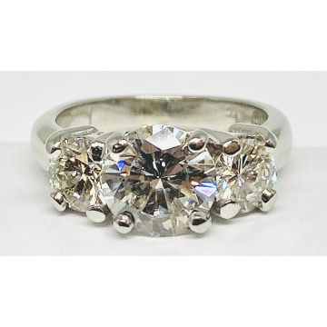 Estate Ladies Three-stone Diamond Engagement Ring