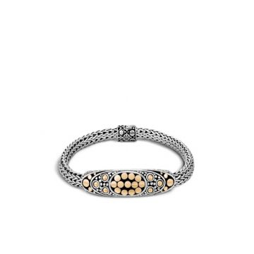 John Hardy Silver & Gold Dot Women's Station Bracelet