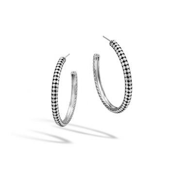John Hardy Silver Dot Women's Hoop Earrings