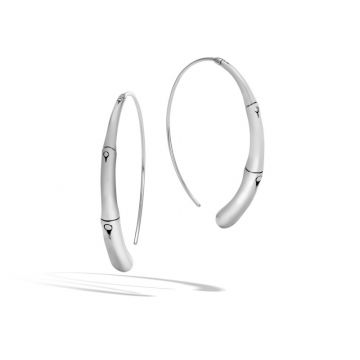 John Hardy Silver Bamboo Women's Hoop Earrings
