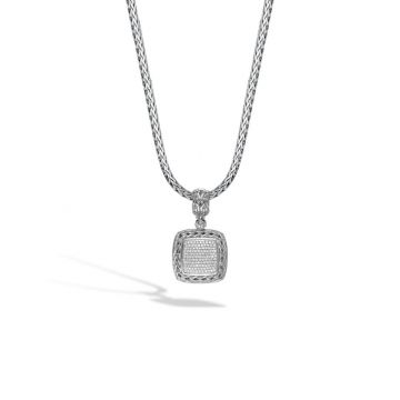 John Hardy Silver Classic Chain Women's Diamond Enhancer Necklace