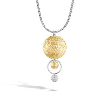 John Hardy Silver & Gold Dot Women's Drop Necklace