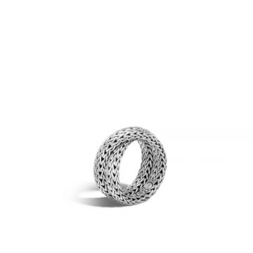 John Hardy Silver Classic Chain Women's Overlap Ring