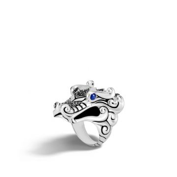 John Hardy Silver Legends Naga Women's Gemstone Ring
