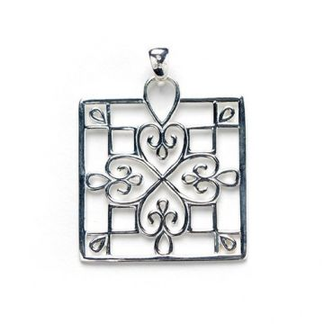 Southern Gates Filigree Square Pendant