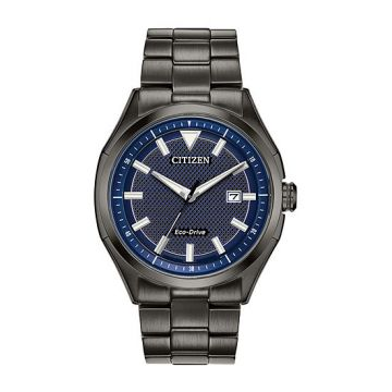 Mens Citizen Eco-Drive Black Tone Watch AW1147-52L