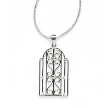 Southern Gates Lady's Sterling Silver Biltmore Transom Silver Necklaces Length 20 Adjustable