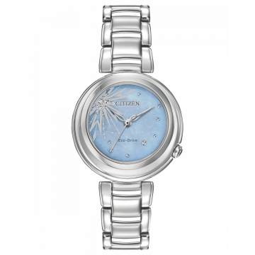 Citizen Ladies Disney Collection Elsa Watch Stainless Steel with Blue Face WR50