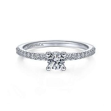 Lady's White 14 Karat Engagement Ring