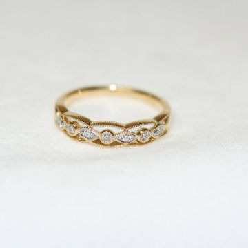 Nelson Vintage Diamond Wedding Band