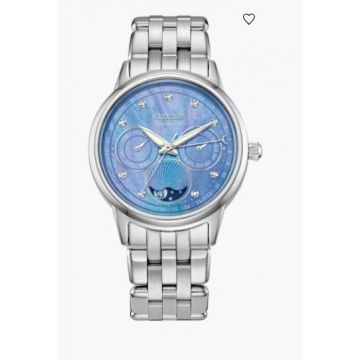 Citizen Stainlesssteel Ladies Watch With Blue Dial