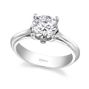 Coast Diamond 14k White Gold Solitaire Engagement Ring