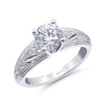 Coast Diamond 14k White Gold Vintage Diamond Engagement Ring