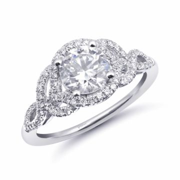 Coast Diamond 14k White Gold Halo Engagement Ring