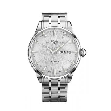 Ball Trainmaster Eternity Silver Dial 39.5MM Watch
