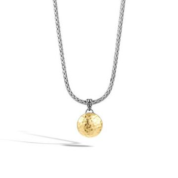 John Hardy WOMEN's Dot Hammered Gold Silver Round Pendant