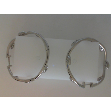 Estate Pair Diamond Hoop Earrings