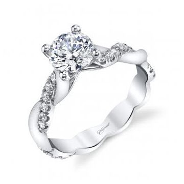 Coast Diamond 14k White Gold Diamond Twist Engagement Ring