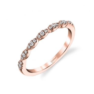 Lady's Rosé 14 Karat Fishtail Wedding/Anniversary Ring