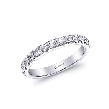 Lady's White 14 Karat Fishtail Wedding/Anniversary Ring