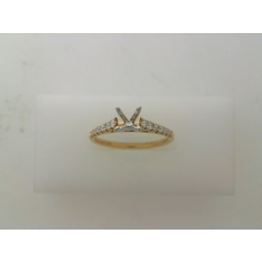 Nelson Lady's Yellow 18 Karat Cathedral Ring