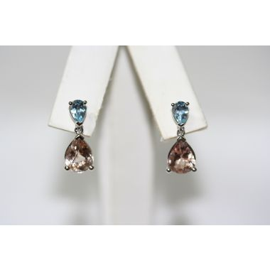 Morganite and Aquamarine Earrings