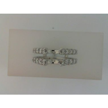 Nelson White 18 Karat Straight Prong-Set Ring Wrap/Guard