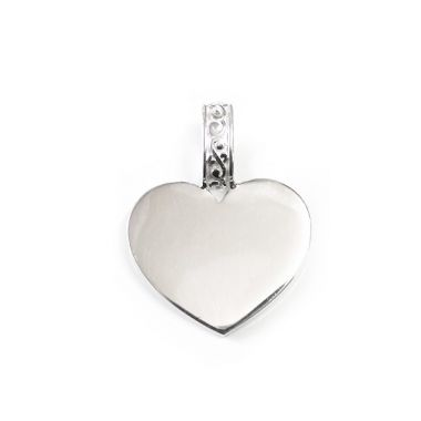 Southern Gates Sterling Silver Holiday Engravable Heart Pendant