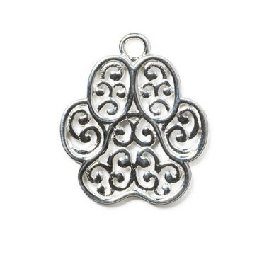 Silver Plated Brass Dog Tag