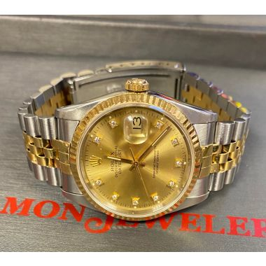 1991 Rolex Datejust 2tone stainless/18k yellow gold with Jubilee bracelet and gold diamond dial