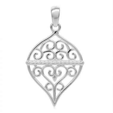Southern Gates Sterling Silver Holiday Ornament Pendant