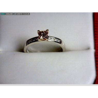 Lady's Two-Tone 14 Karat Engagement Ring