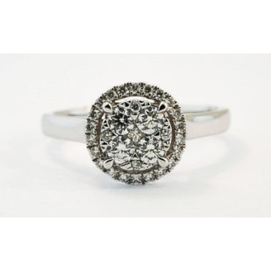 Nelson Lady's Diamond Cluster Ring