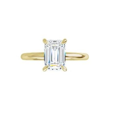 Lady's Yellow Polished 14 Karat Solitaire Engagement Ring